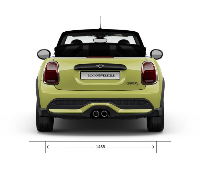 MINI Convertible – rear view - dimensions