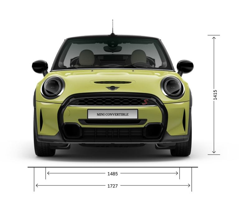MINI Convertible – front view – dimensions